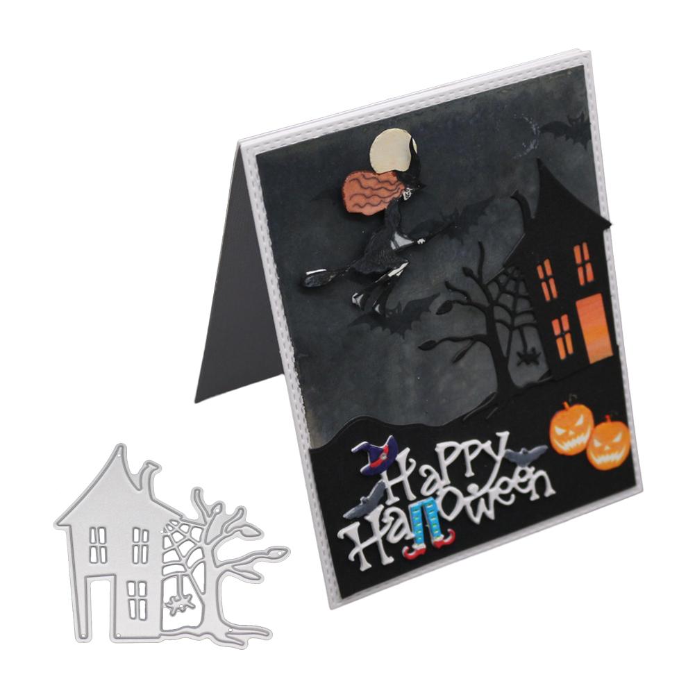 New 2018 Halloween Haunted House Metal Cutting Dies Stencil DIY Scrapbooking Embossing Album Paper Card Craft