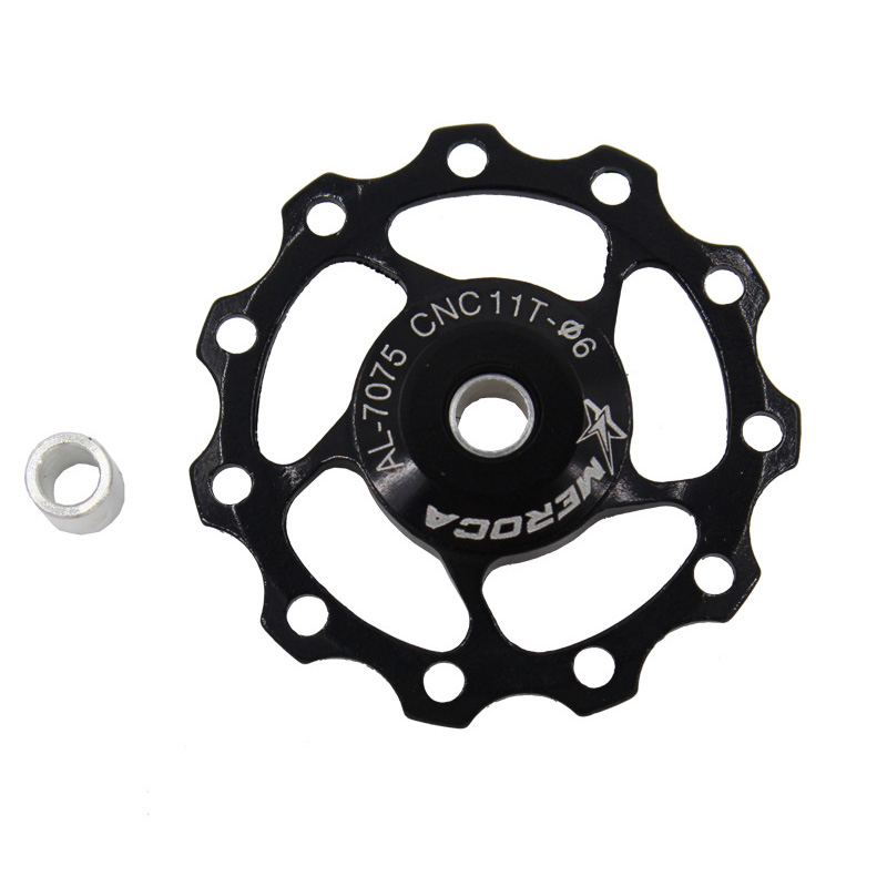 11T/13T Aluminum Alloy MTB Mountain Bike Bicycle Rear Derailleur Pulley Jockey Wheel Road Bike Guide Roller For 7/8/9/10 Speed 13T black
