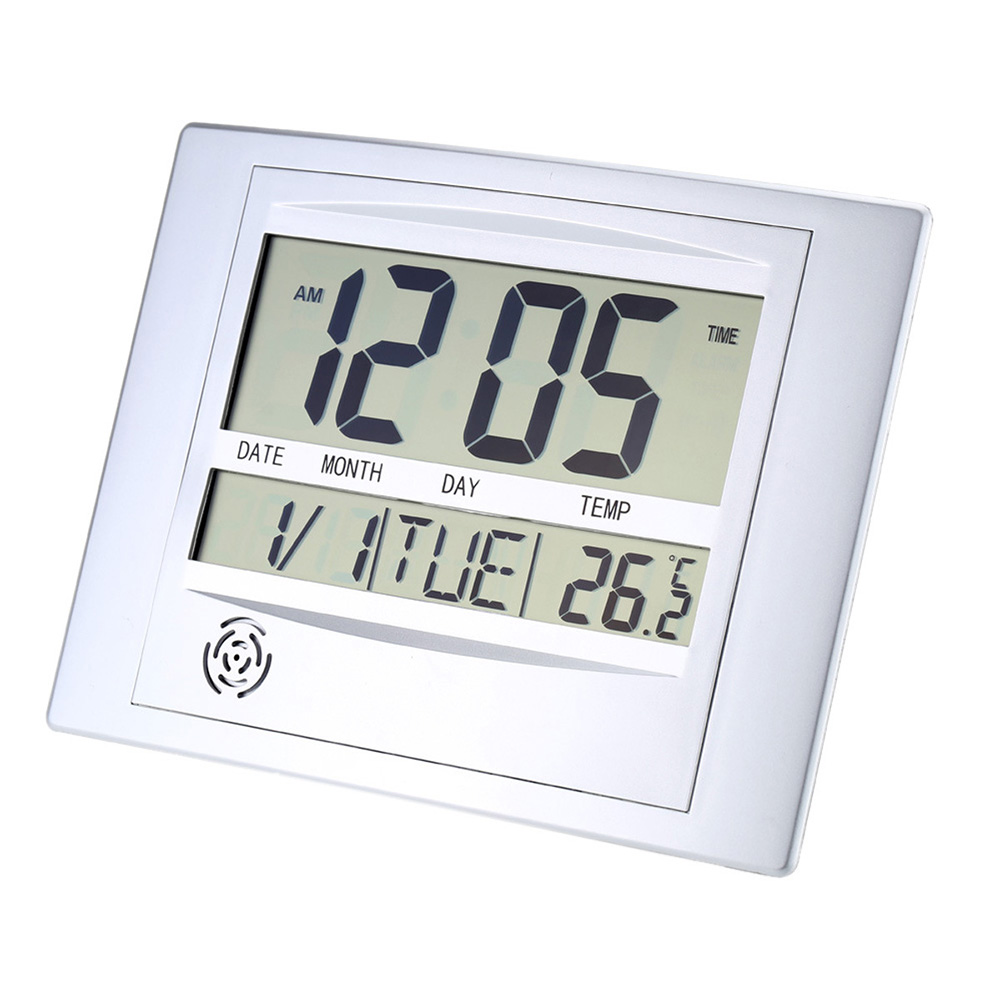 Digital Wall  Clocks Multifunction Electronic Thermometer Calendar Alarm Clock as picture show