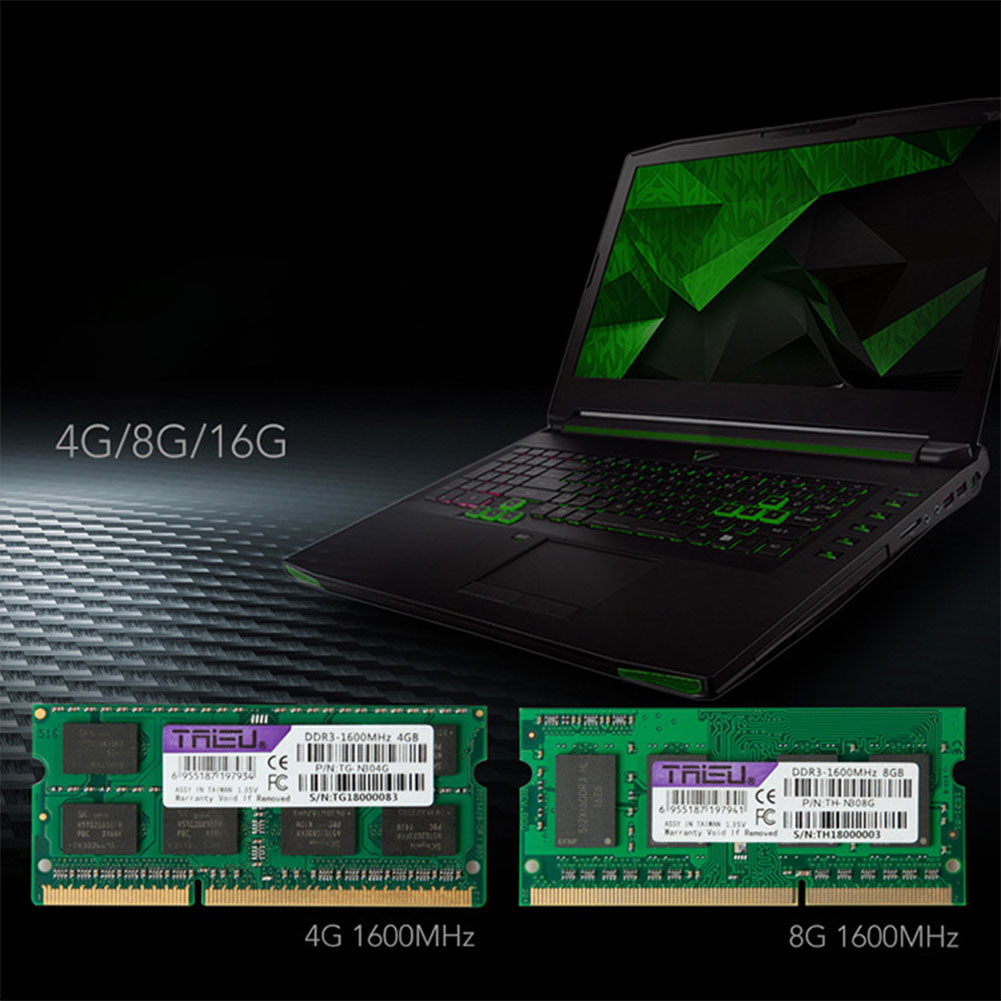 2GB/4GB/8GB DDR3 1600MHz Notebook Memory
