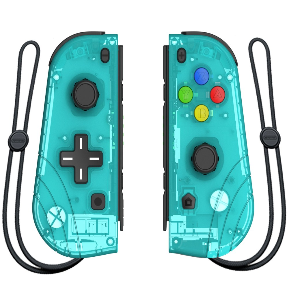 Switch Joy Con Wireless Gaming NS (L/R) Controllers Bluetooth Gamepad Transparent green