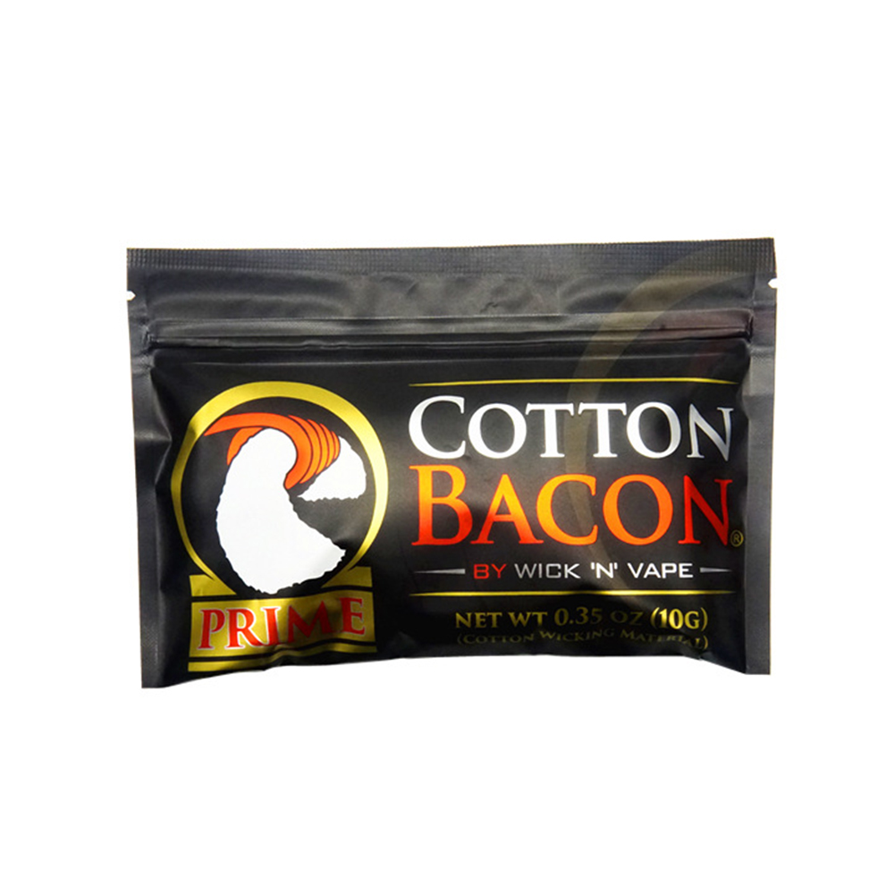 Electronic Cigarette Oil Cotton DIY Organic Guide Cotton COTTON BACON V2 Black
