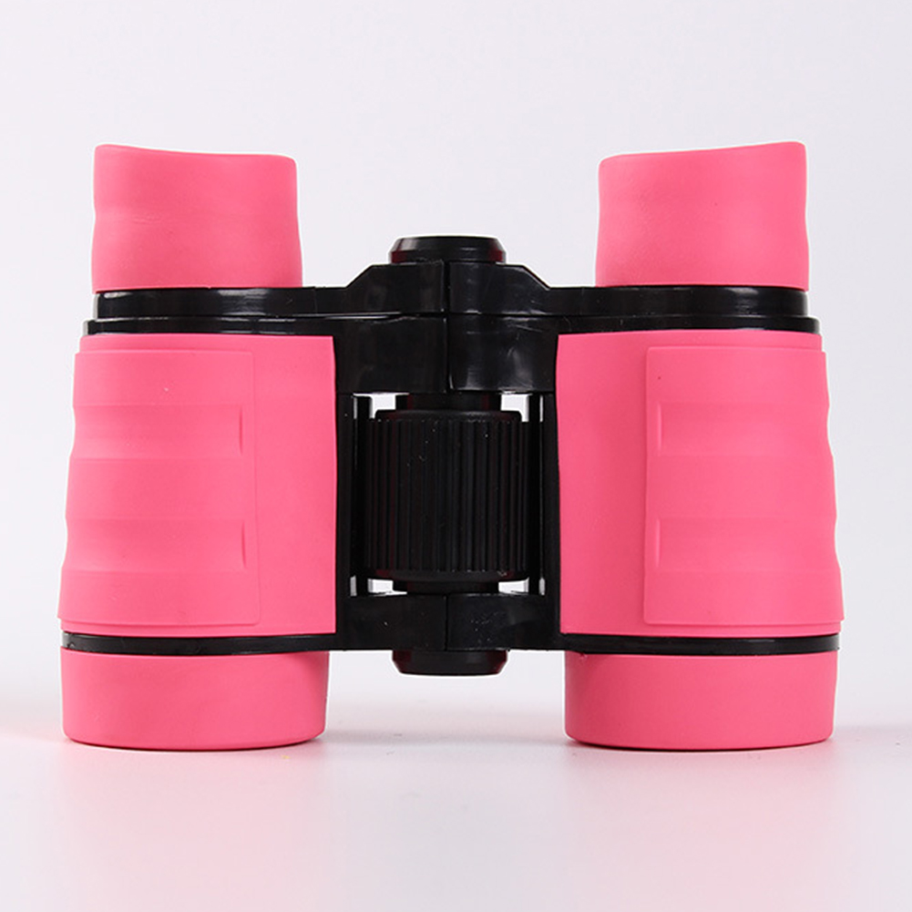 4*30 Colorful Rubber Handle Anti-skid Children Toy Binocular Telescope Pink