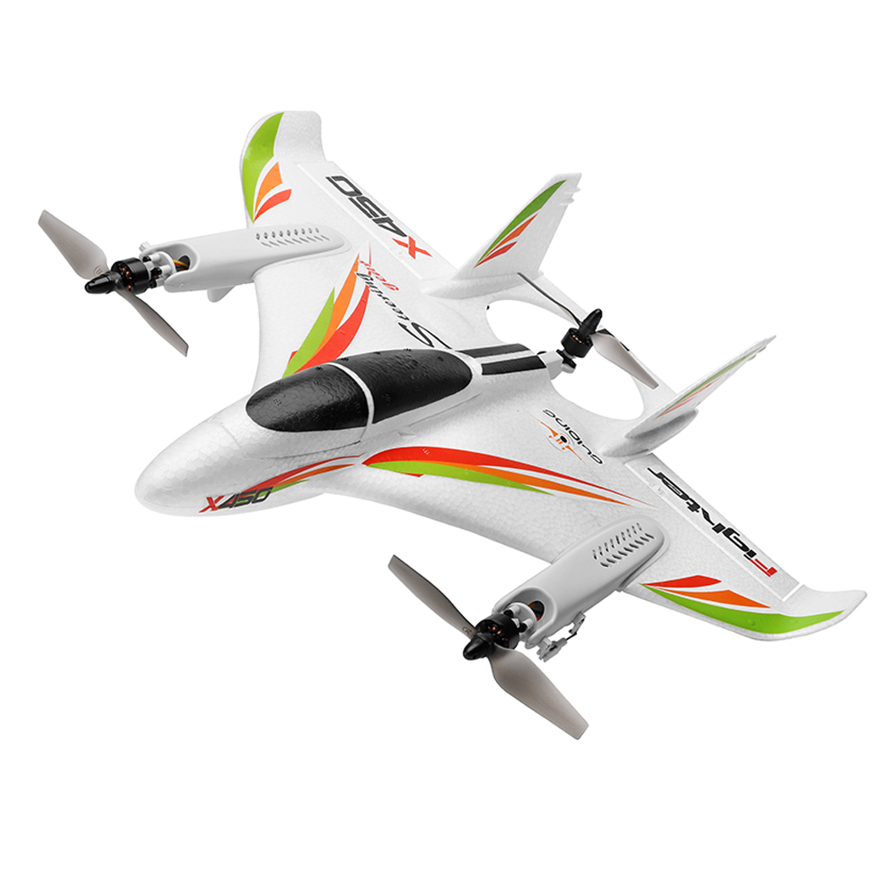 WLtoys XK X450 2.4G 6CH 3D/6G RC Airplane Brushless Motor Vertical Take-off LED Light RC Glider Fixed Wing RC Plane Aircraft RTF EU plug