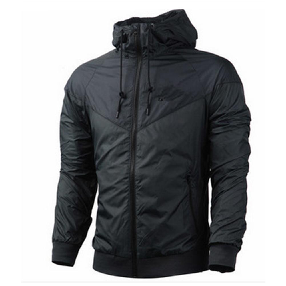 Men Women Jacket Sports Sunscreen Outdoor Windbreak Running Mountaineering Sportswear Coat Dark gray_XL