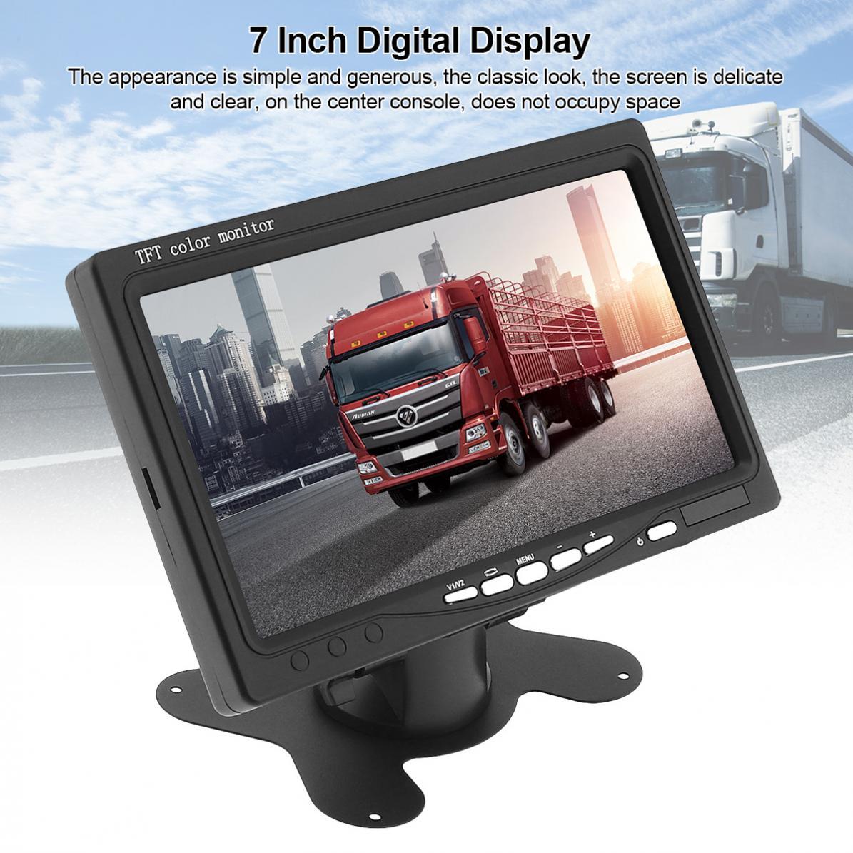 7 Inch Ultra Thin TFT LCD HD Monitor Audio Video AV Car Home Monitor  7 inch 800*480