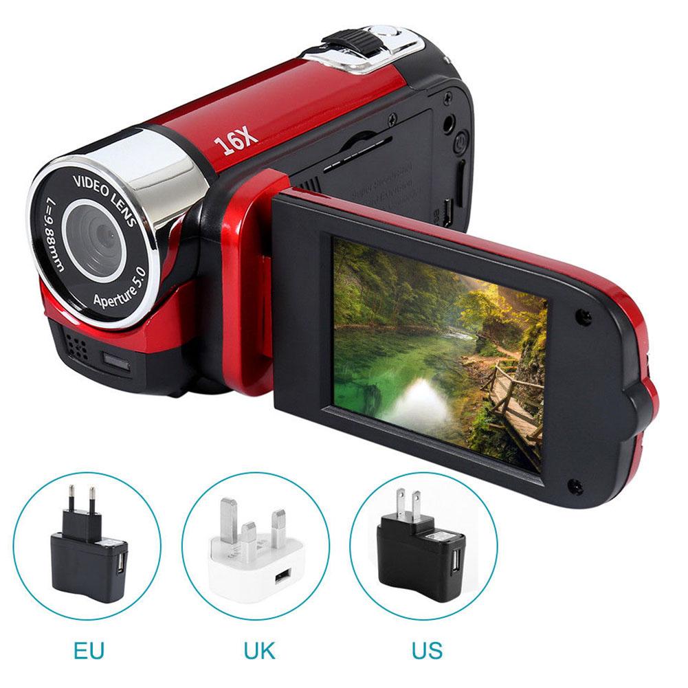1080P HD Night Vision Anti-shake Wifi DVR Professional Video Record Digital Camera Camcorder  red_US plug