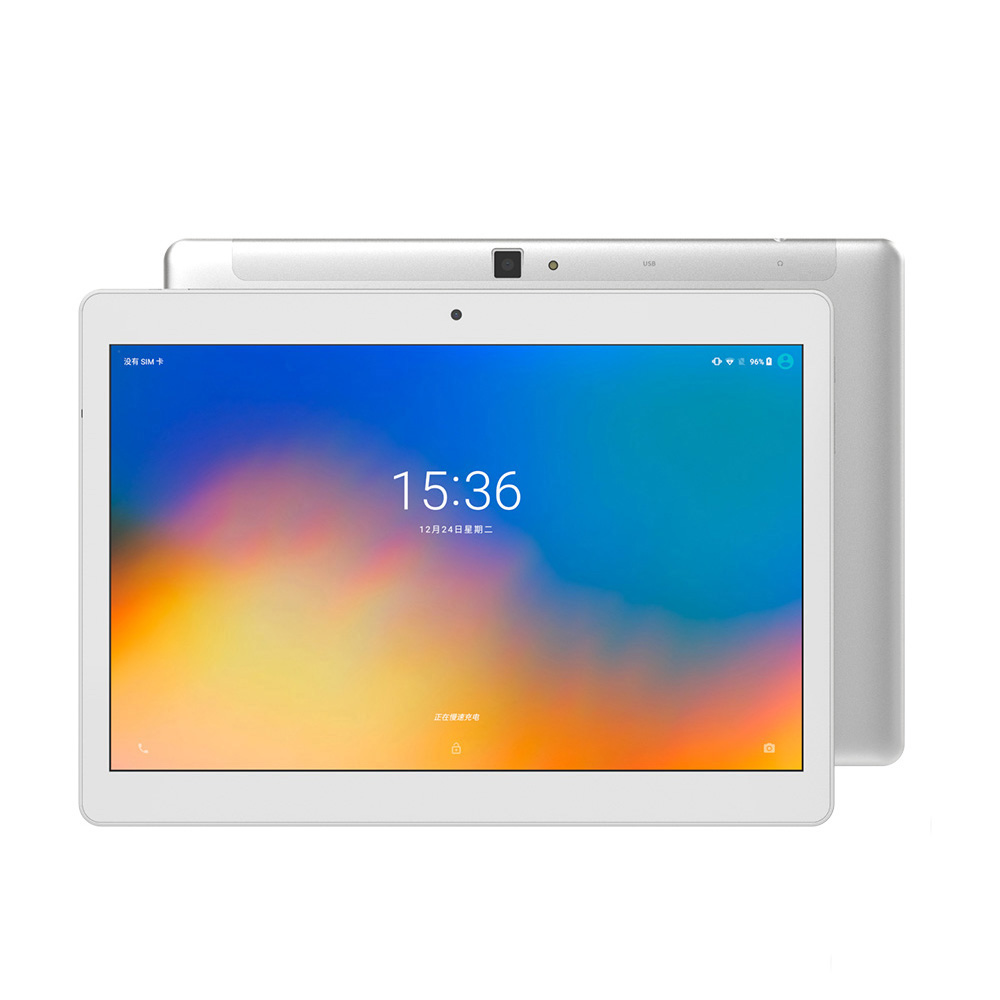 ALLDOCUBE M5X Pro 10.1 inch 4G Phablet Android 8.0 Helio X27 Deca-core CPU 4GB RAM 128GB ROM 5.0MP + 2.0MP Dual Camera Media Tablet PC Silver_US regulation + Leather Case