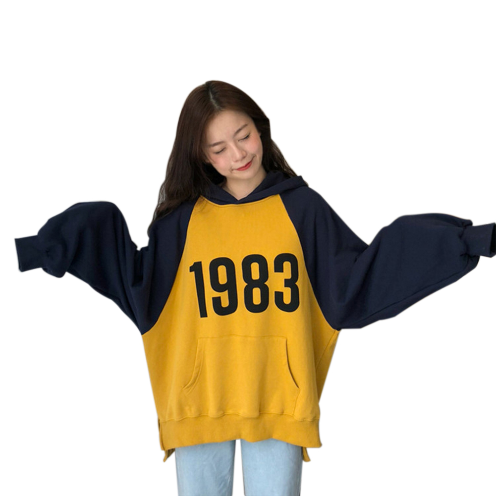 Loose Fashion Preppy Style Hoodies Brushed Hoody for Men and Women yellow_M