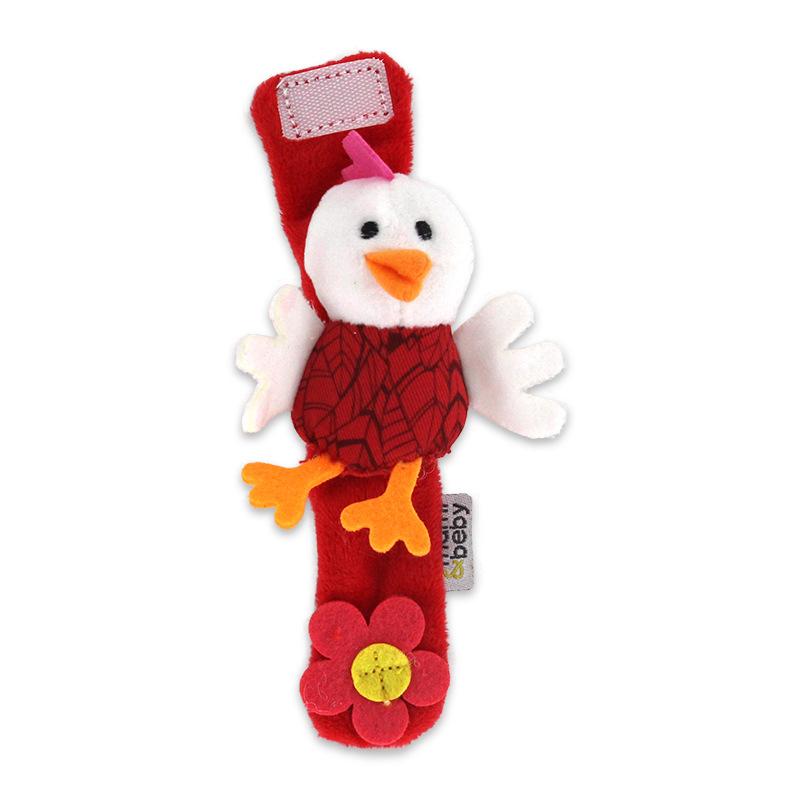 Baby Wrist Rattles Educational Development Soft Animal Toy  White chick