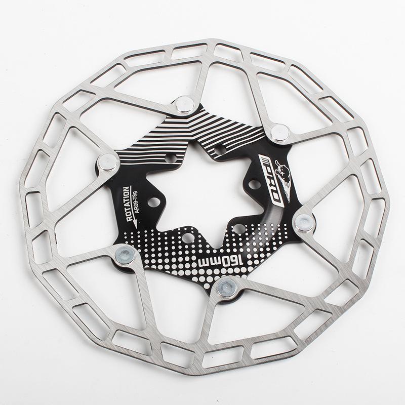 Bike Disc Brake Rotors Ultralight Floating Disc Pads 160mm 80g Bicycle Disc Brake Rotors Parts Black 160MM boxed
