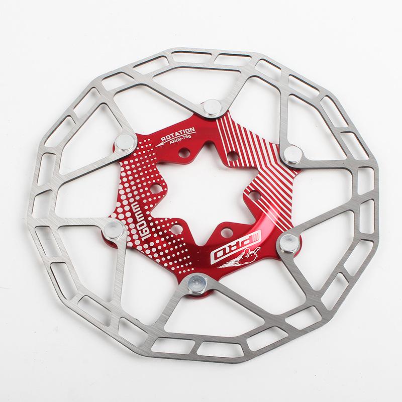 Bike Disc Brake Rotors Ultralight Floating Disc Pads 160mm 80g Bicycle Disc Brake Rotors Parts Red 160MM boxed