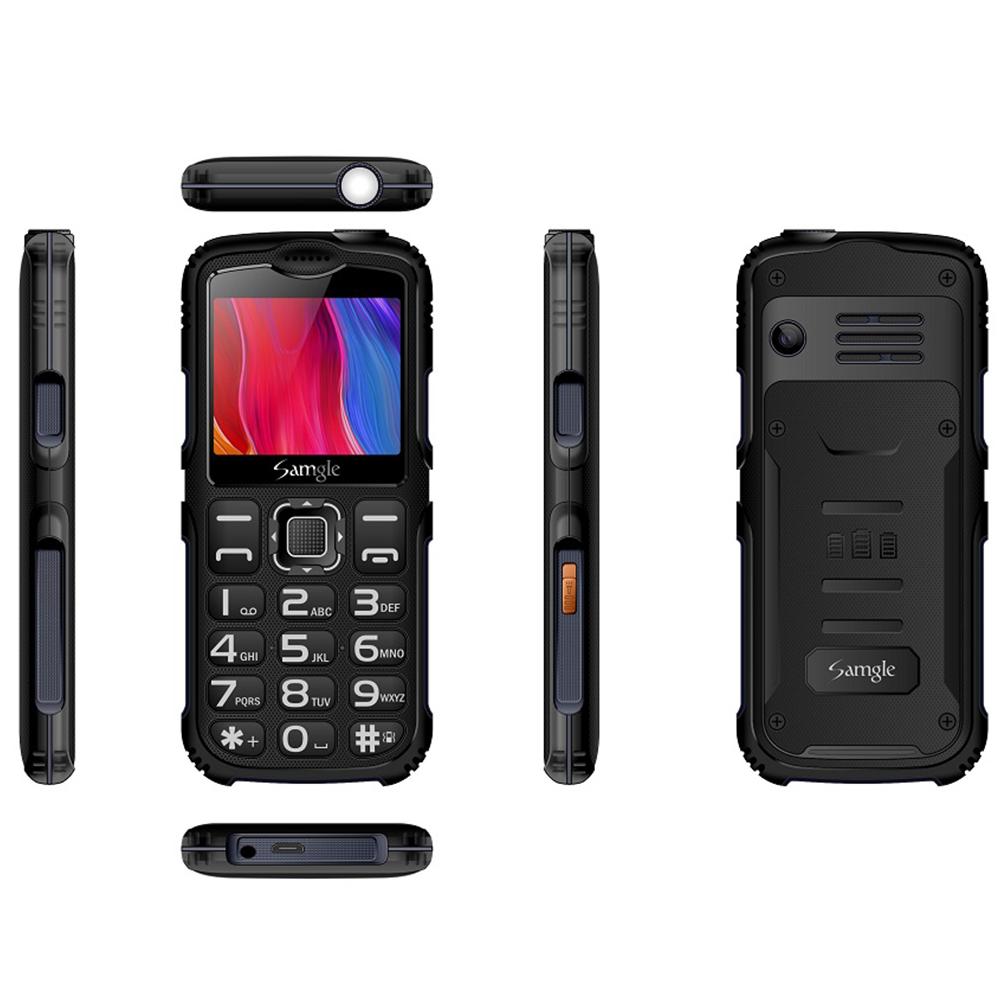 Samgle-S3 Big Button Mobile  Phone Keyborad Phone For Elderly GSM / WCDMA Mobile Phone Green   (UK Plug)