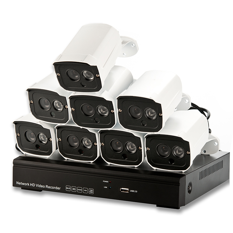 8 Channel HD NVR w/ 8 960p Cameras