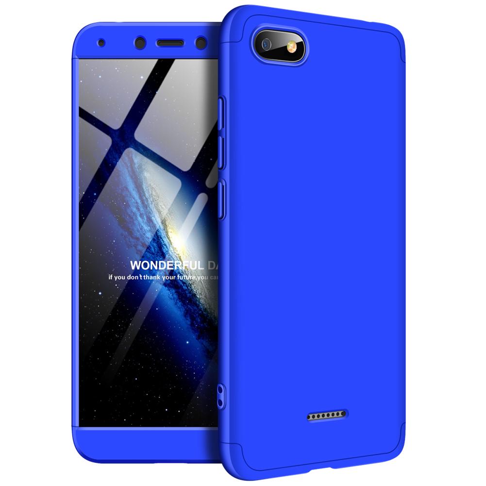 [Indonesia Direct] For XIAOMI Redmi 6A Ultra Slim PC Back Cover Non-slip Shockproof 360 Degree Full Protective Case blue_XIAOMI Redmi 6A