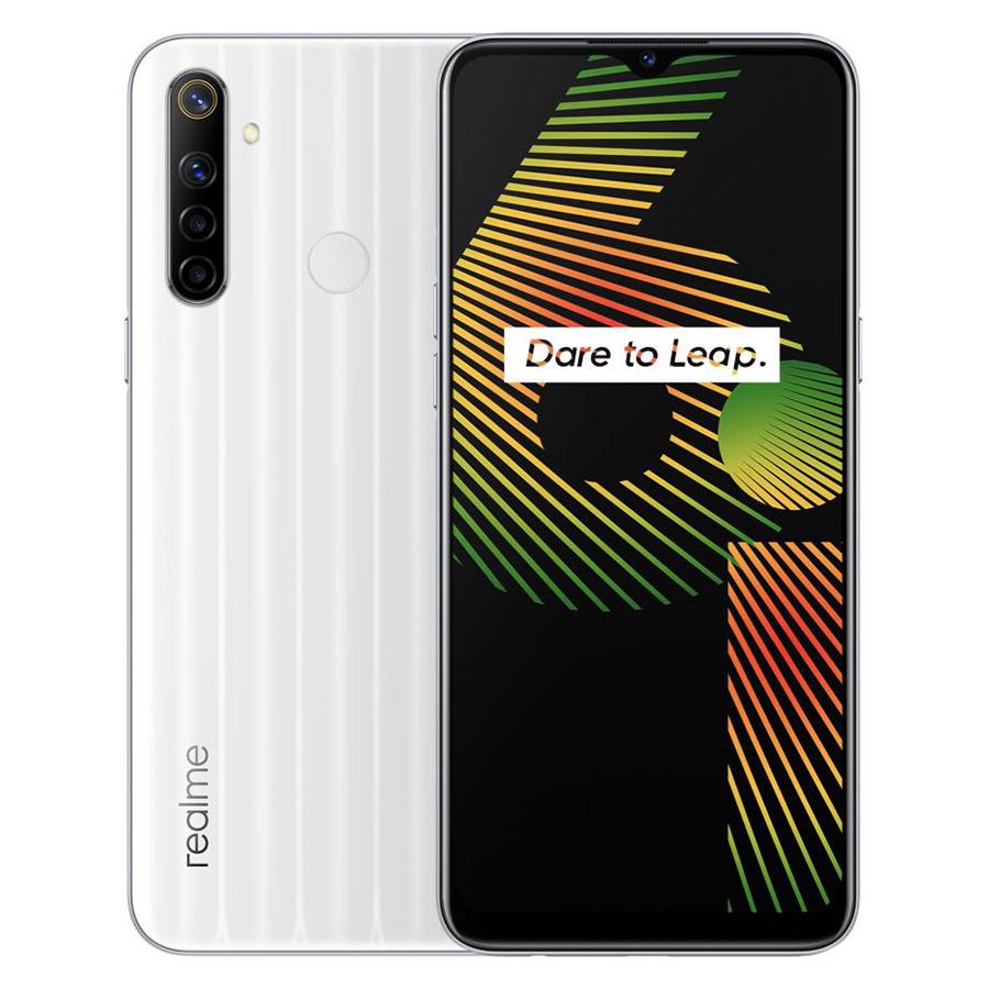 Global Version realme 6i 4GB 128GB 6.5'' Mini-drop Fullscreen Helio G80 Octa Core 48MP AI Quad Camera 5000mAh Battery white