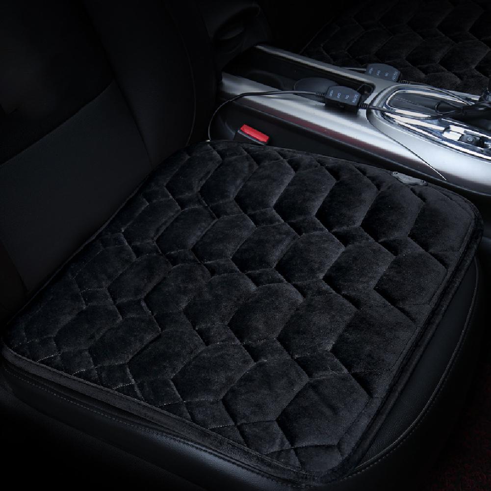 50*53CM 12V Car Seat Heater Plush Electric Heated Seats Interior Accessories Diamond black