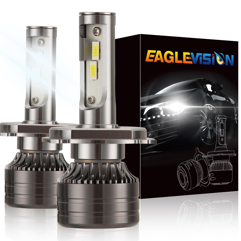 1 pair LED Headlight Bulb 60W 6,000LM ZES-3575 LED chip Automobile LED headlight Car Headlamp H4/9003