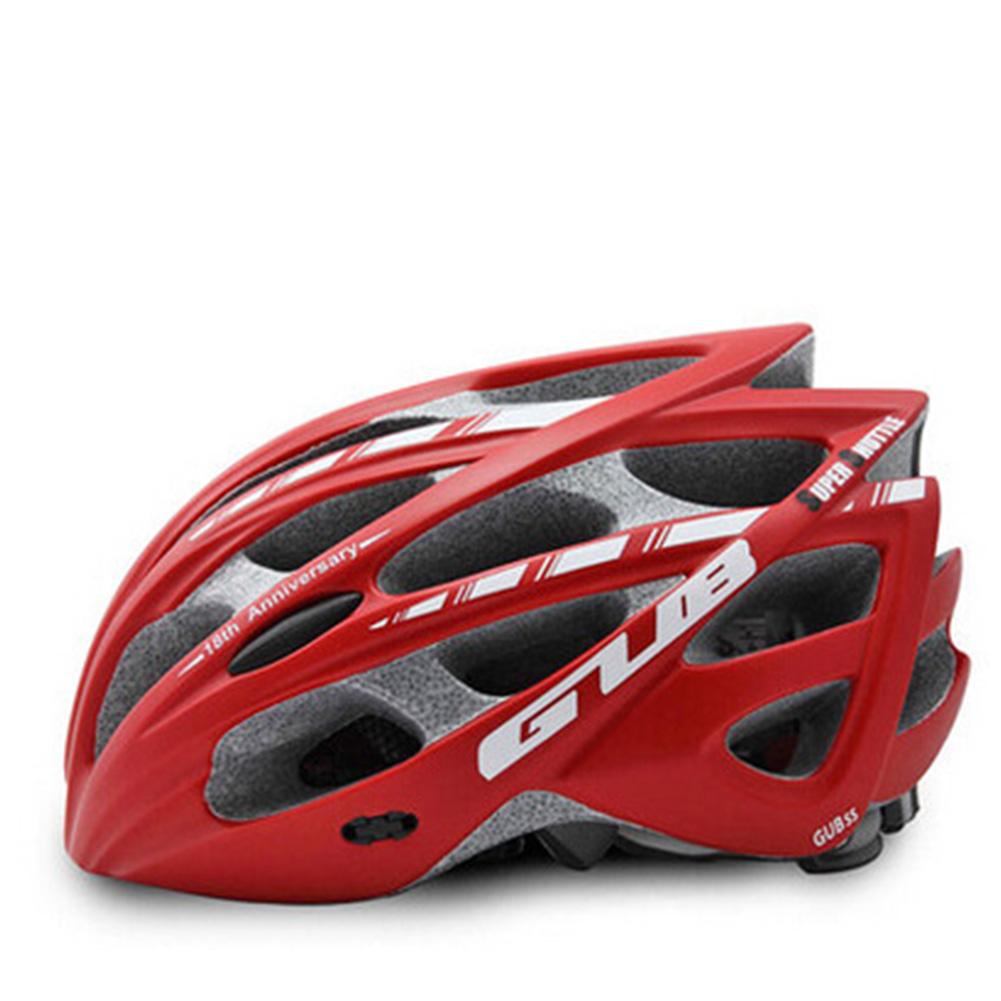 Men Women GUB SS Integrally-molded Helmet Bicycle HelmetMountain Bike Helmet for Road Cycling red_M