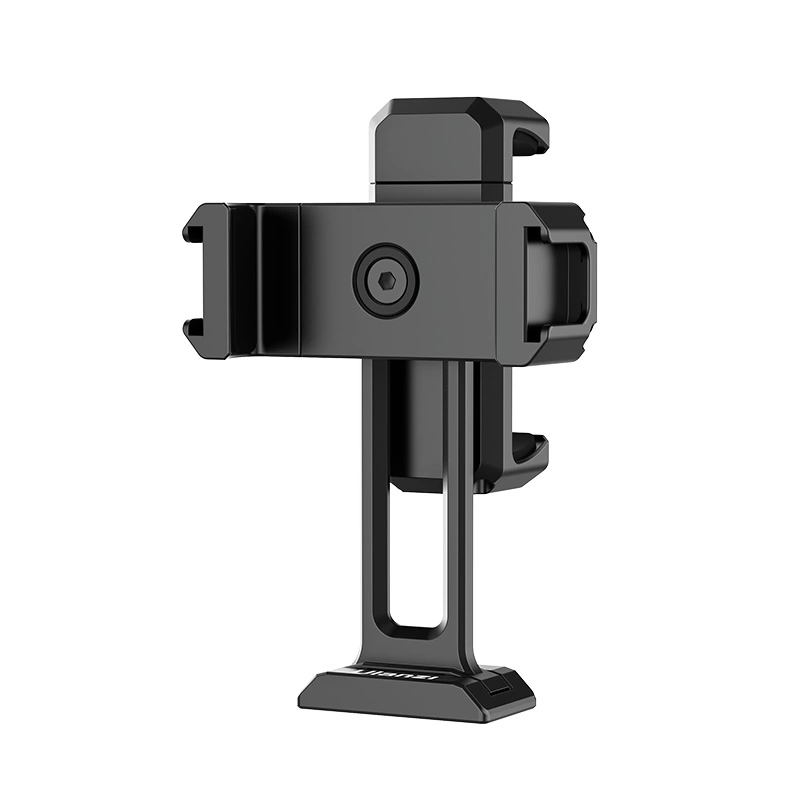 ST-18 Phone Holder Horizontal and Vertical Shooting Dual Teleprompter Stand Mount Clamp black
