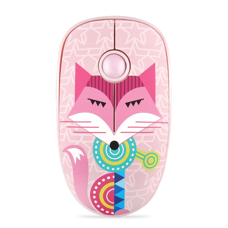 Rechargeable Computer Mouse Cartoon Animal Pattern Ultra-thin Silent Notebook Office Wireless Mouse Fox