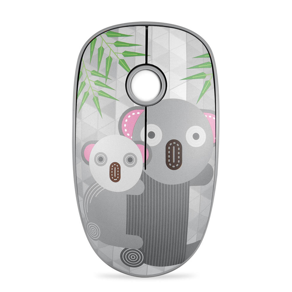 Rechargeable Computer Mouse Cartoon Animal Pattern Ultra-thin Silent Notebook Office Wireless Mouse Koala