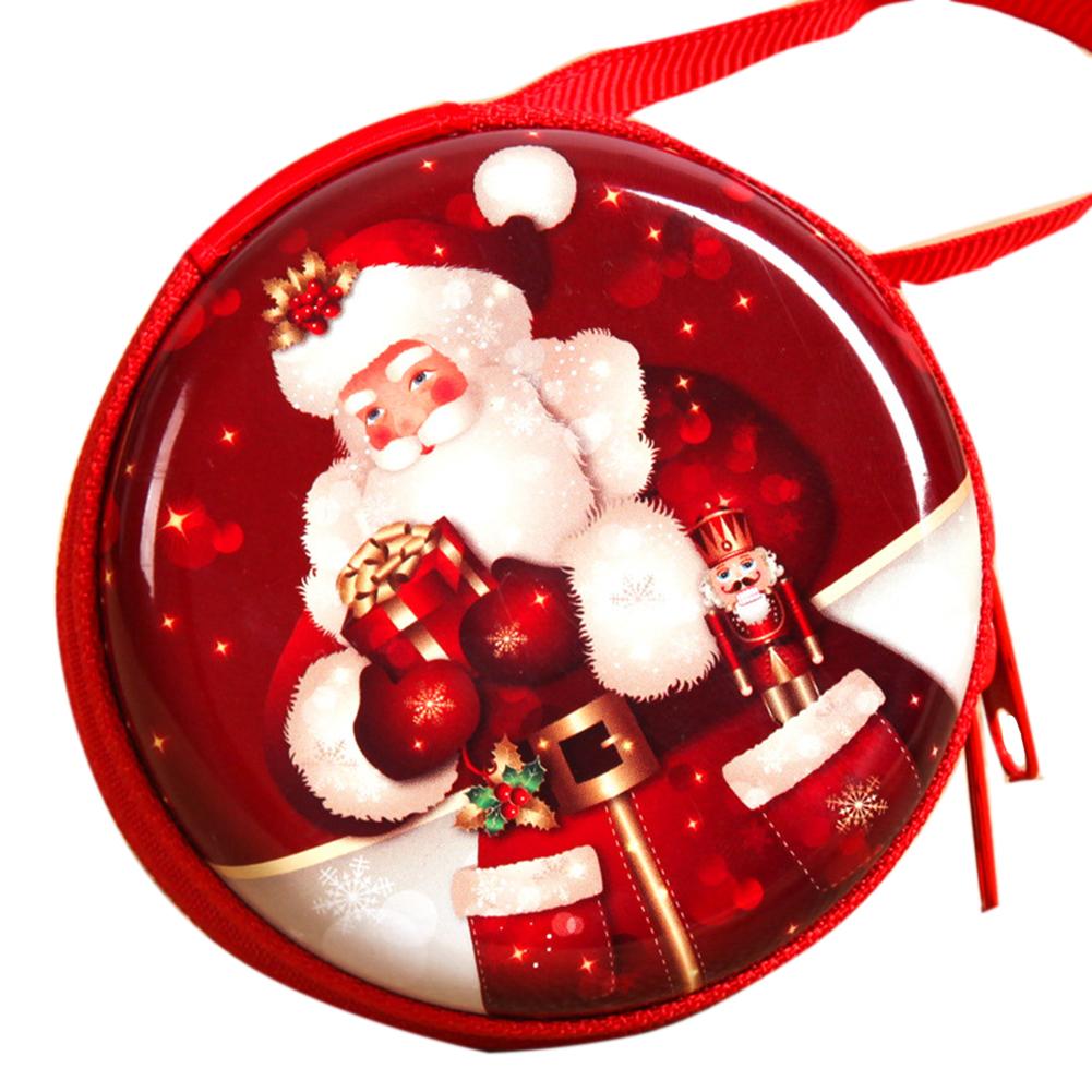 Women Small Wallets Creative Christmas Pattern Coin Purses Cartoon Zipper Pocket Wallets 3.5cm