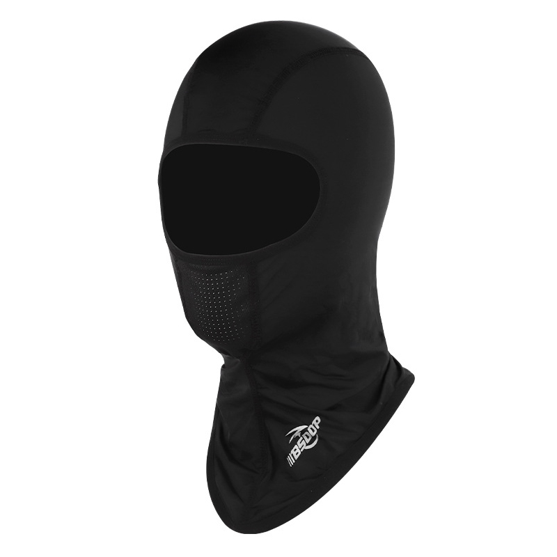 Ice Silk Cycling Motorcycle Full Face Mask Dustproof Windproof Outdoor Cycling Unisex Half Face Shield RH-A1117 black