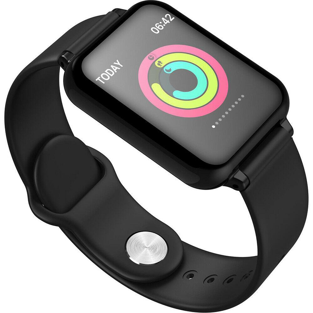 IP67 Waterproof Smartwatch Heart Rate Monitor Multiple Sport Model Fitness Tracker  black