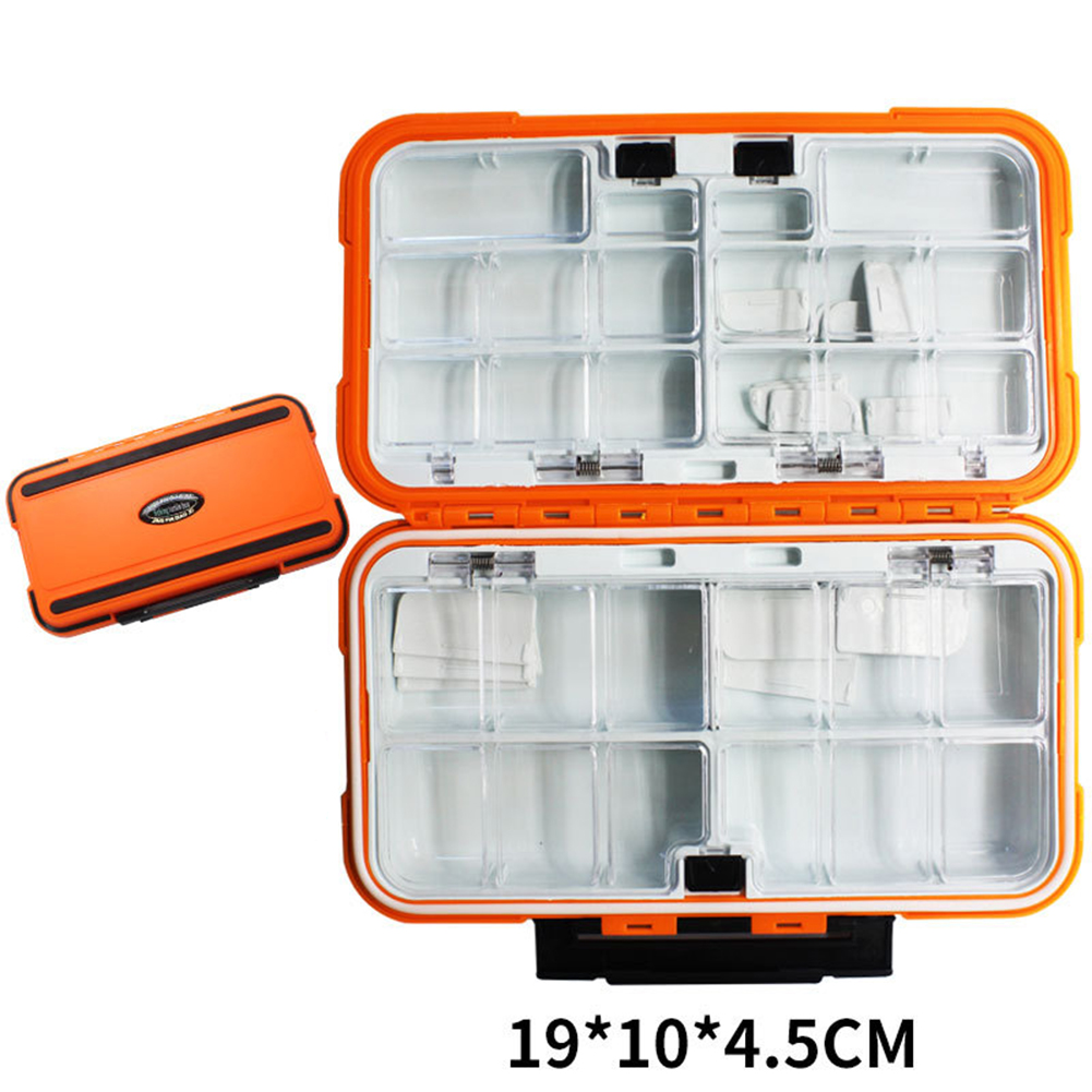 Fishing Storage Box Waterproof Fishing Lure Gear Accessories Large orange