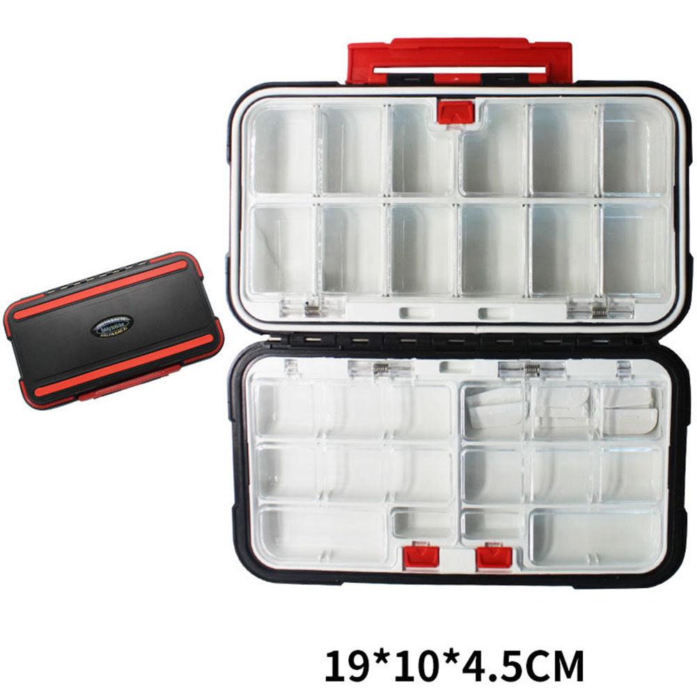 Fishing Storage Box Waterproof Fishing Lure Gear Accessories Large black