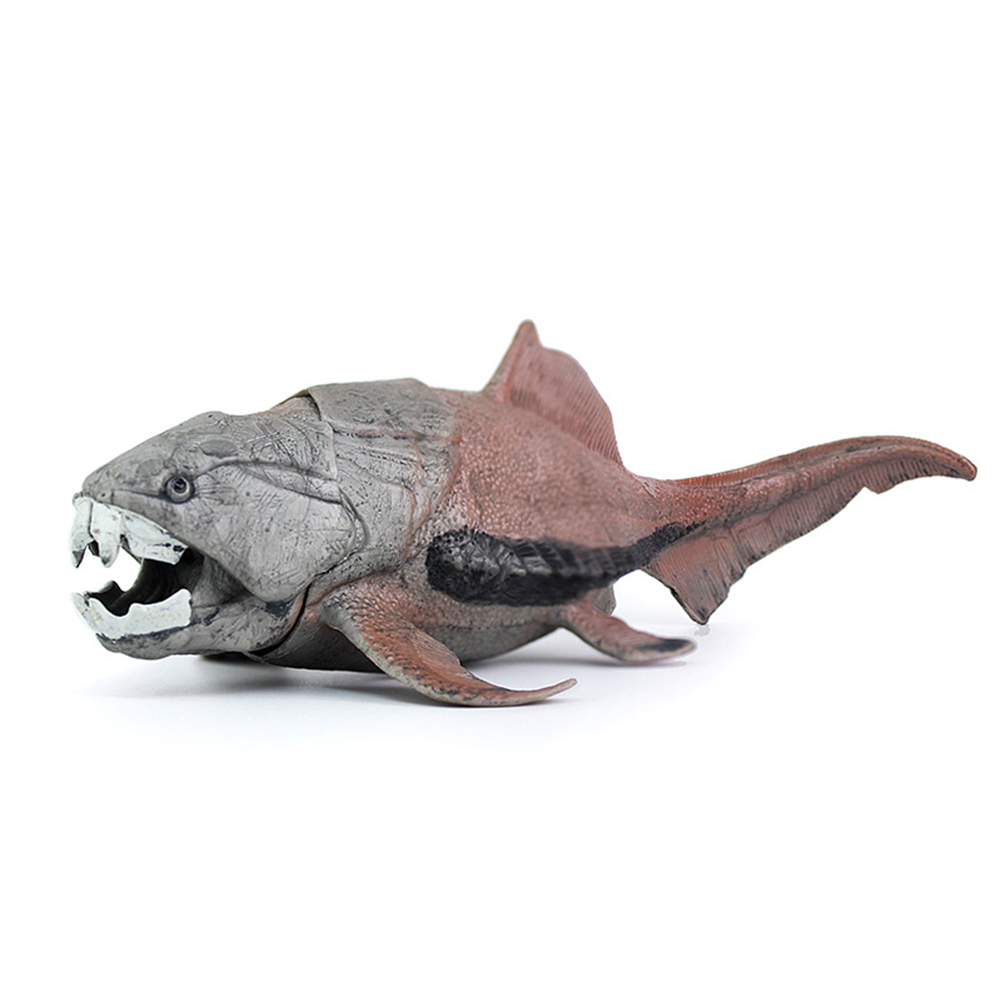 Simulate Dunkleosteus Oceanic Dinosaur Figure Jaw Movable Dinosaur Model Toys Educational Play Toy for Kids As shown