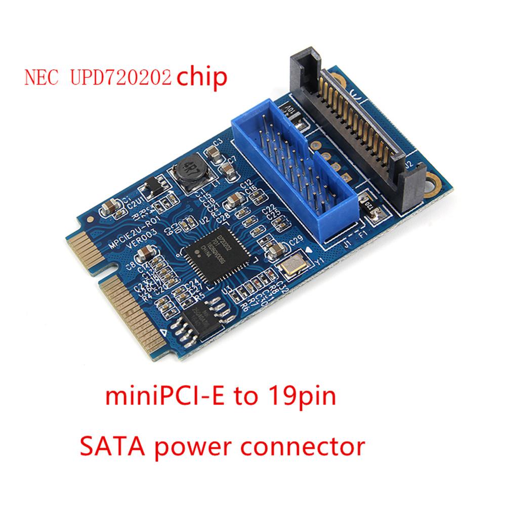 Mini PCI-E to 19-pin USB 3.0 Mini Expansion Card MINI PCIE to 20PIN/19Pin USB3.0 Adapter
