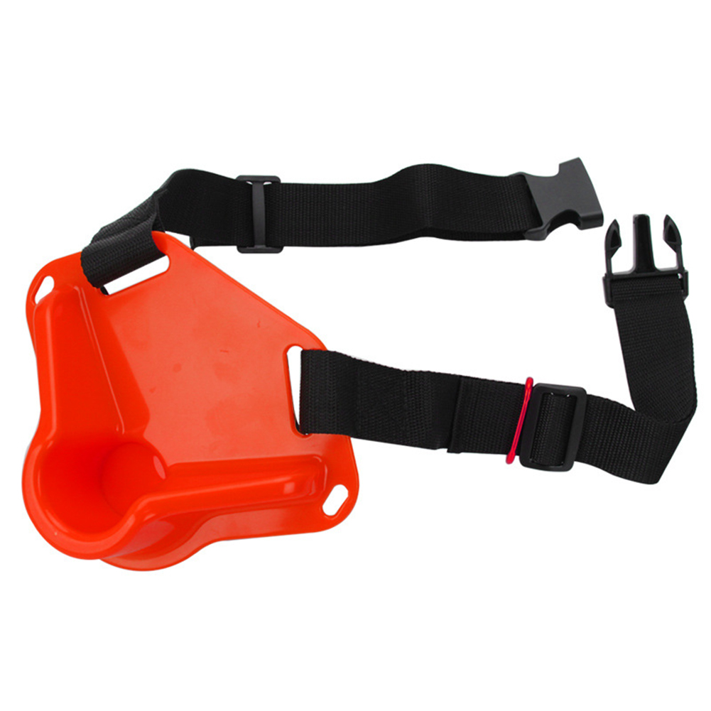 Universal Fishing Belt Belly Protector Oxford Cloth Sea Fishing Rotating Waist Rod  Holder Adjustable Fishing Equipment Red