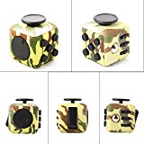 [US Direct] Fidget Cube Toy Relieve Stress, Anxiety and Boredom for Children and Adults Camouflage Green