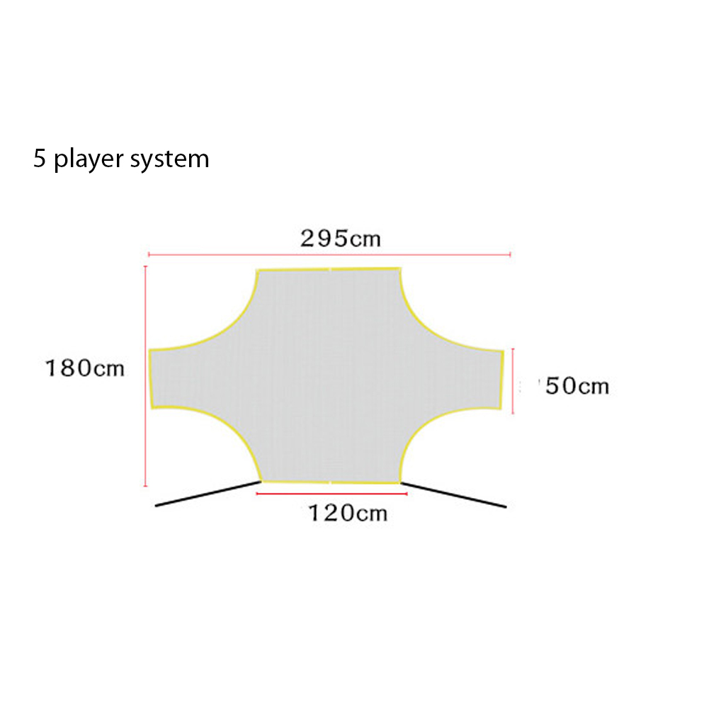 Soccer Target Practice Training Shot Goal Net Portable Football Training Tool for Children Students 5 player system