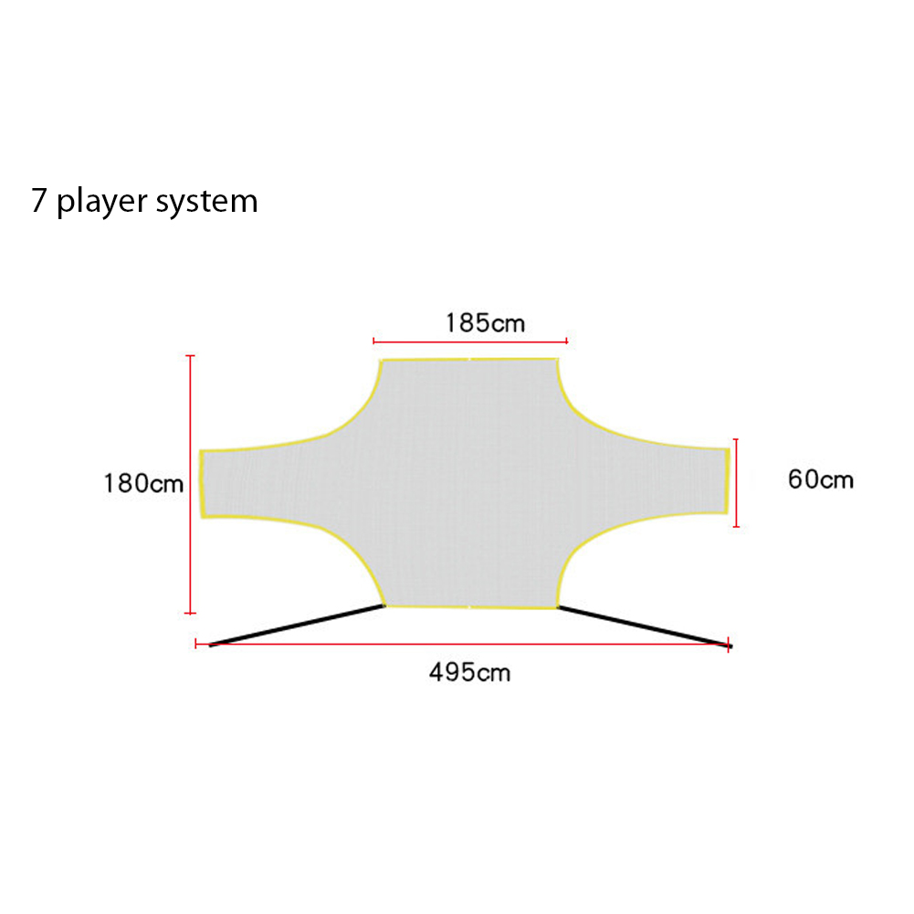Soccer Target Practice Training Shot Goal Net Portable Football Training Tool for Children Students 7 player system