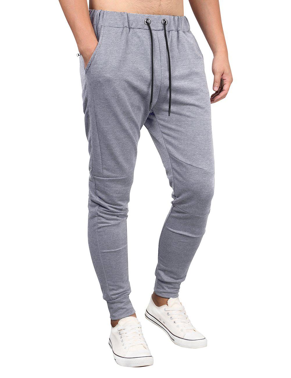 Kuulee Men's Casual Sport Jogger Drawstring Pants Sweatpants with Pockets