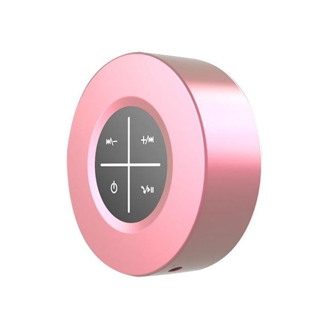 Portable Bluetooth Speaker Wireless Subwoofer Hands Free Calling Loudspeaker Speaker with Microphone Rose gold