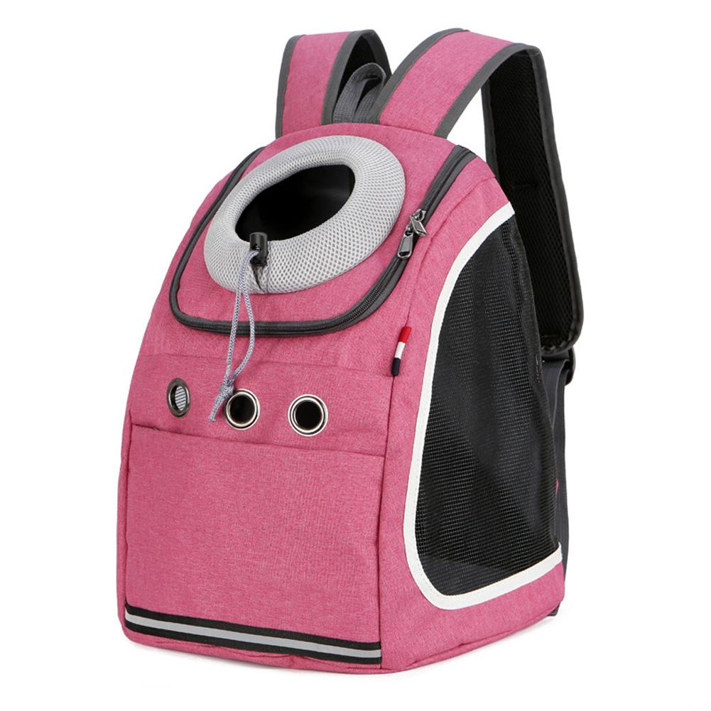 Pet Carrier Cat Breathable Travel Capsule Bag Portable Pet Dog Backpack  Matte pink_37 * 24 * 42cm