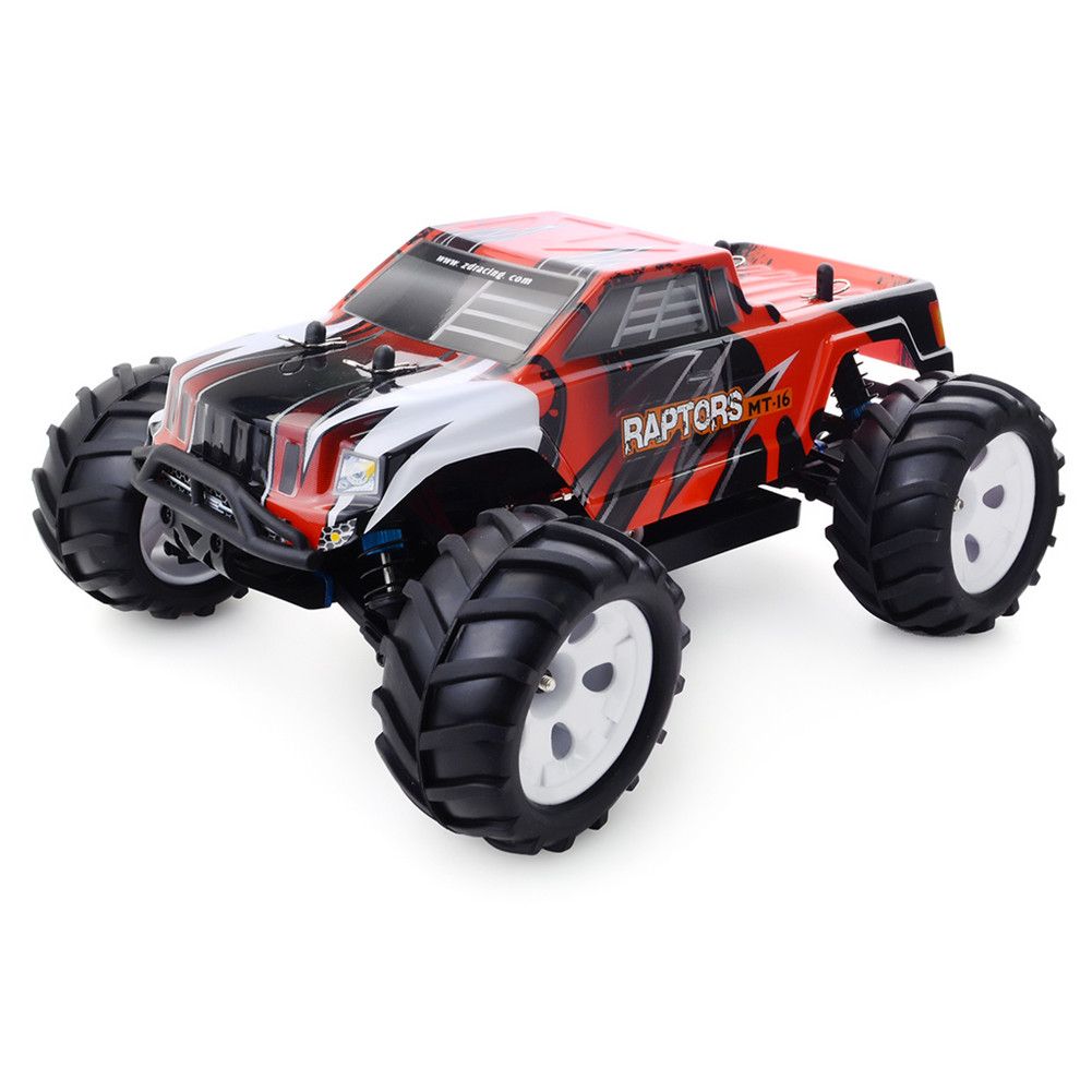 ZD Racing MT-16 1/16 2.4G 4WD RC Car Brush-less Truck red