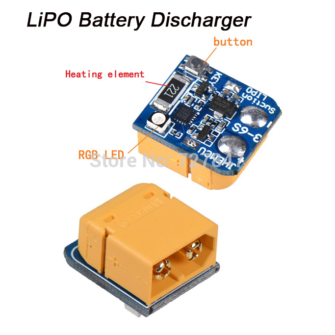 LIPO Suction Lithium Battery Discharger Battery for Storage Long-term 3S 4S 5S 6S XT60 Plug Battery RC Drone Power  default