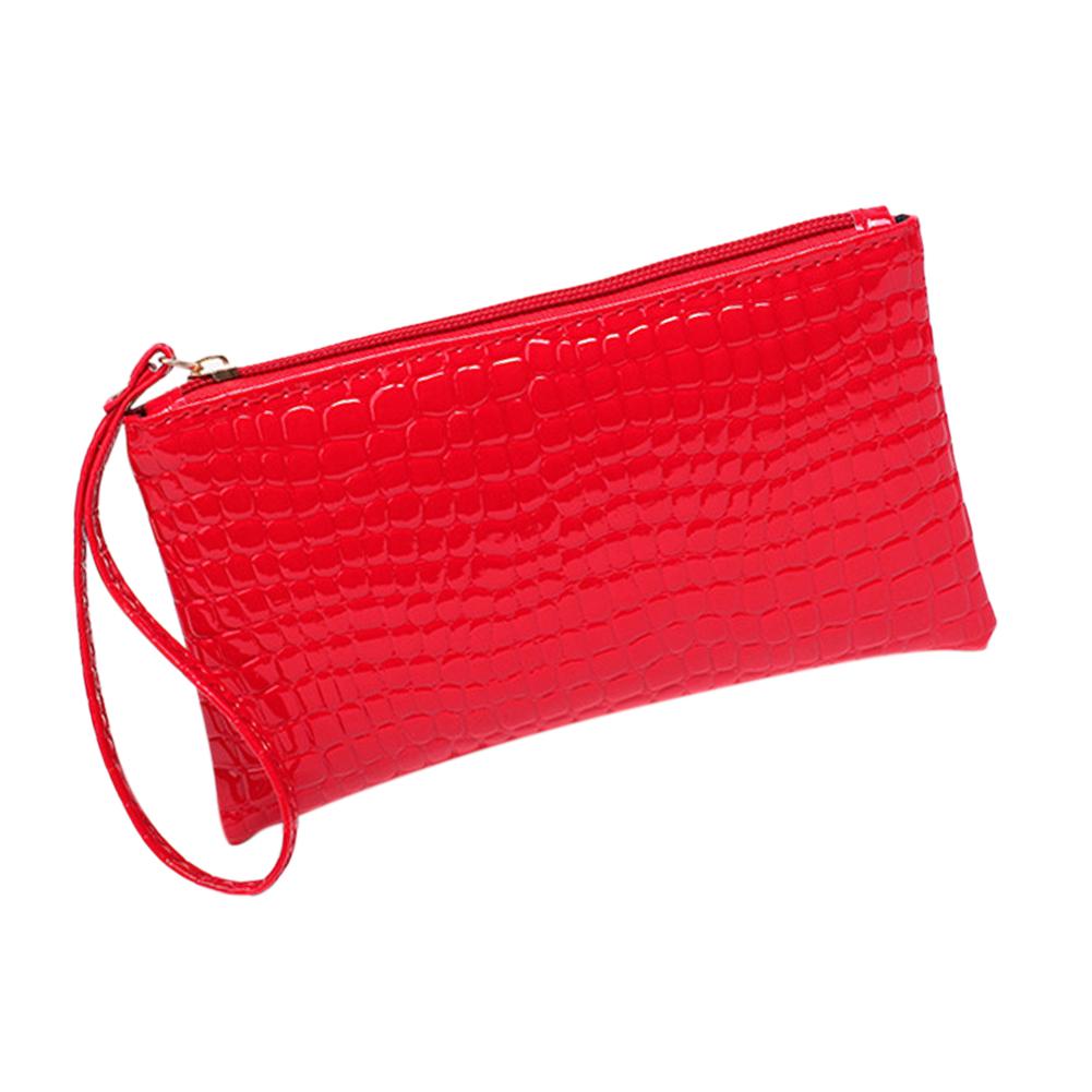 Women Wallet Purse Handbag Womens PU Leather Fabric Clutch Handbag Bag Coin Purse