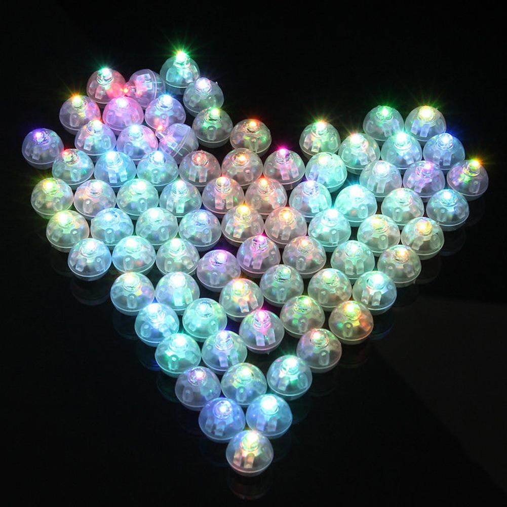 10pcs  20pcs  50pcs 100pcs Mini Plastic Balloon Light Ball Shape Party Christmas LED Decoration Window Scene Layout(Not Include Balloon) 50Pcs lights