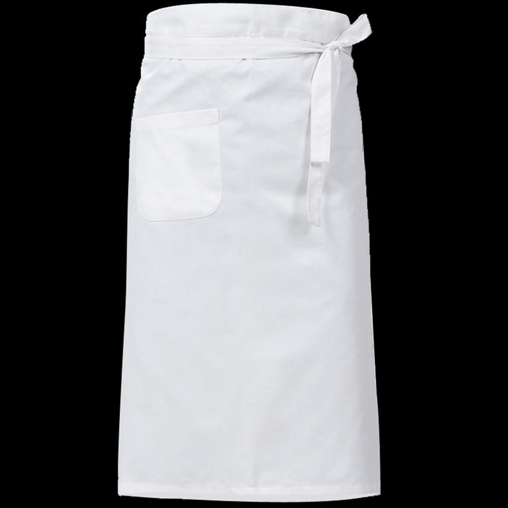 Women Kitchen Antifouling Chef Apron for Hotel Restaurant Cooking White half body