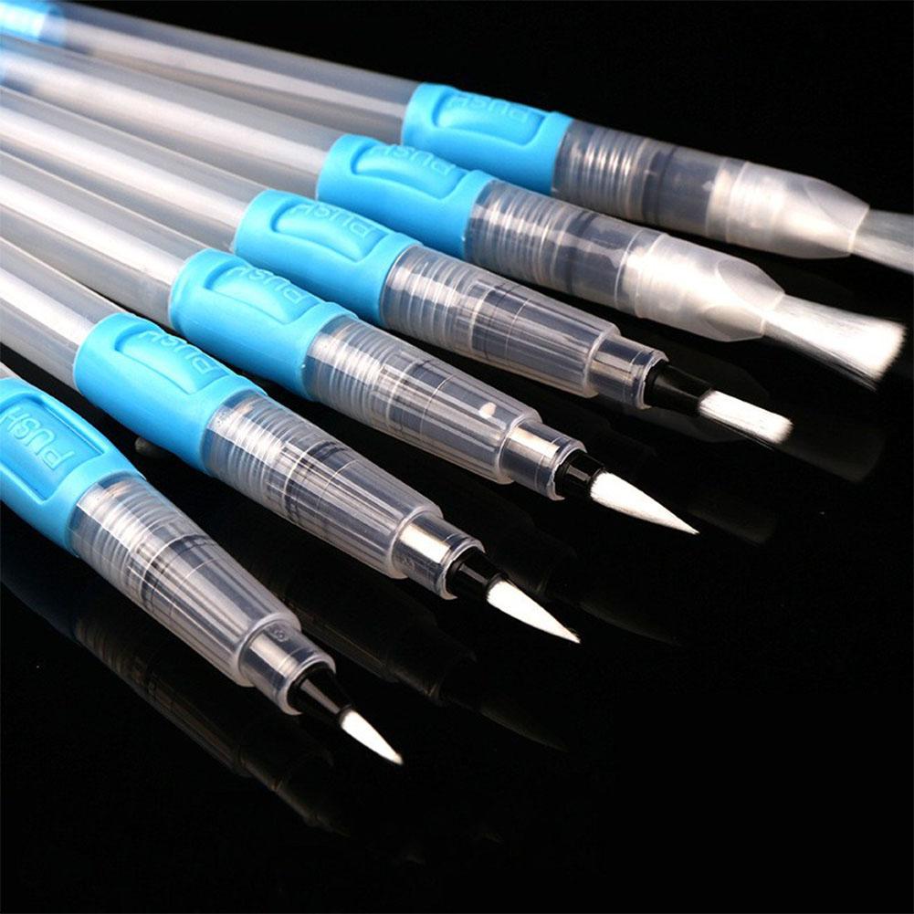 6Pcs/Set Watercolor Brush Set Ink Brush Fountain Pen Soft Watercolor Painting Brush for Beginner Drawing Art Supplies