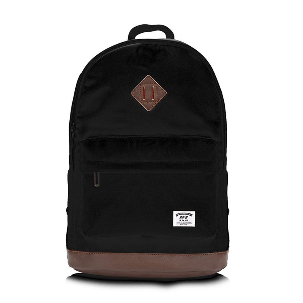 Fashion Canvas Backpack Light Weight Soft Surface for Sports Bag black_31*18*44