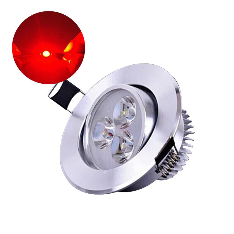 10Pcs/Set 1W LED Super Bright Lamp Beads Night Light for Flashlight Stage Yard Bulb Red light 620-625NM