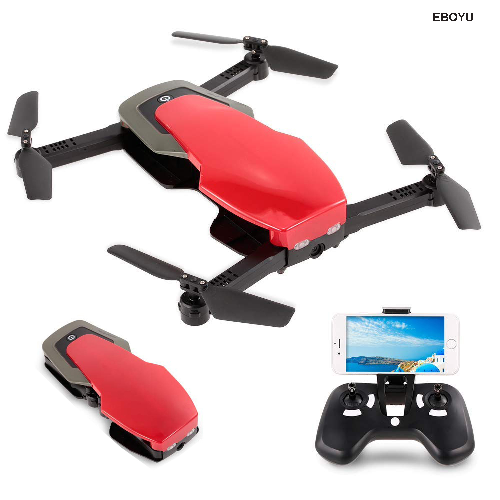 Wltoys Q636-B WiFi FPV Drone 720P HD Camera Foldable Selfie G-Sensor Optical Flow Positioning Altitude Hold RC Quadcopter Drone red
