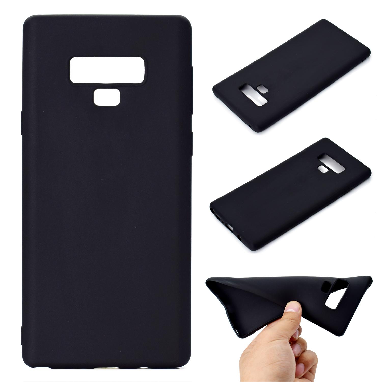 for Samsung NOTE 9 Cute Candy Color Matte TPU Anti-scratch Non-slip Protective Cover Back Case black